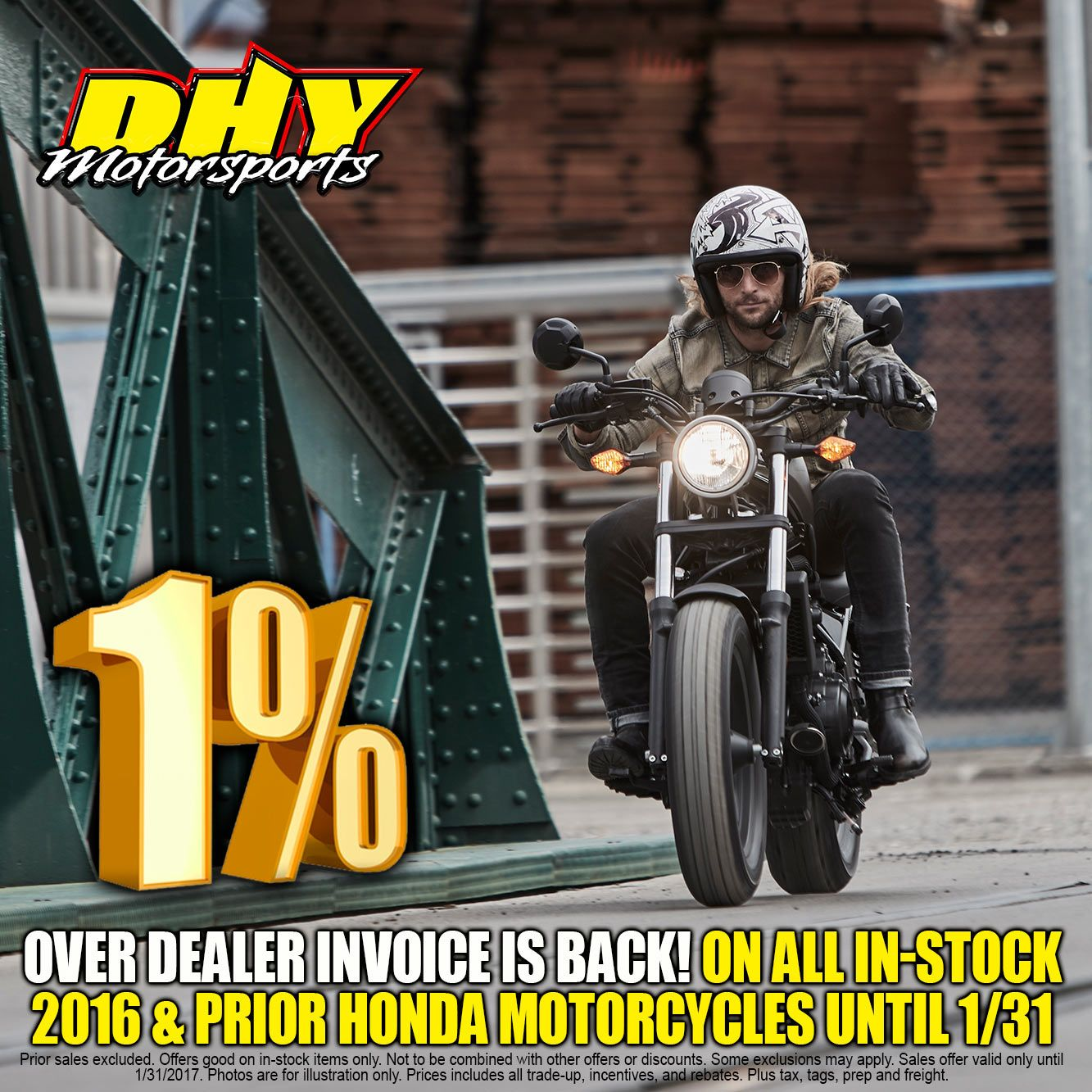 1 over dealer invoice is back at dhymotorsports on all