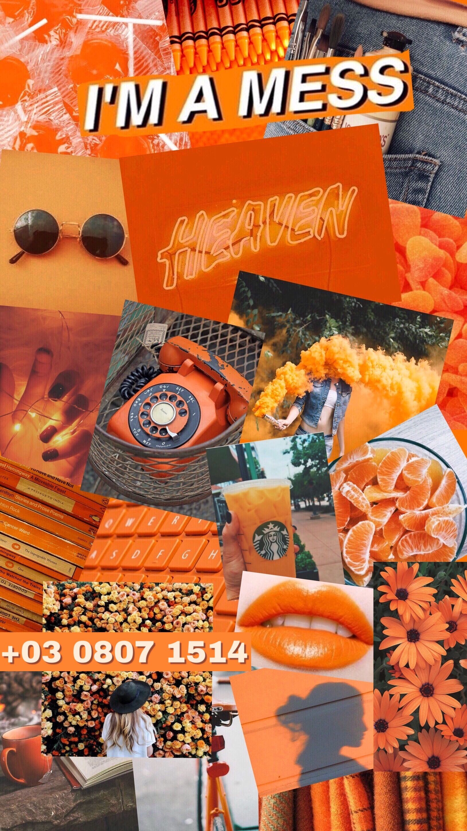 Orange Aesthetic Orange Aesthetic Aesthetic Collage Color