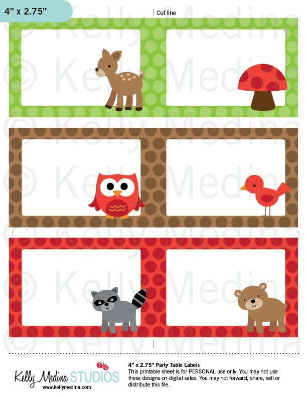 Animal Blank Printable Labels Clipart Library