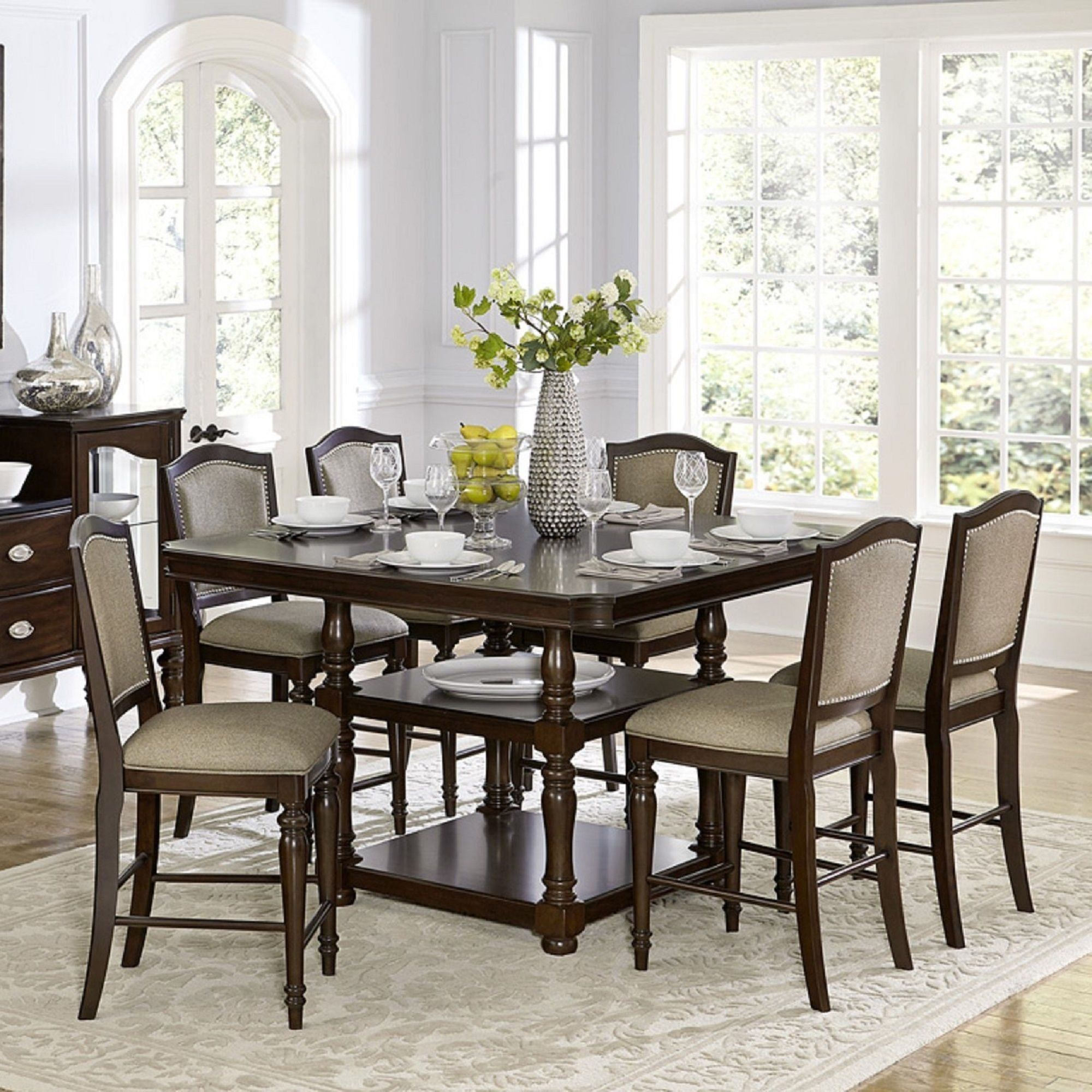 counter room sophia dining piece set coaster sets look marble height