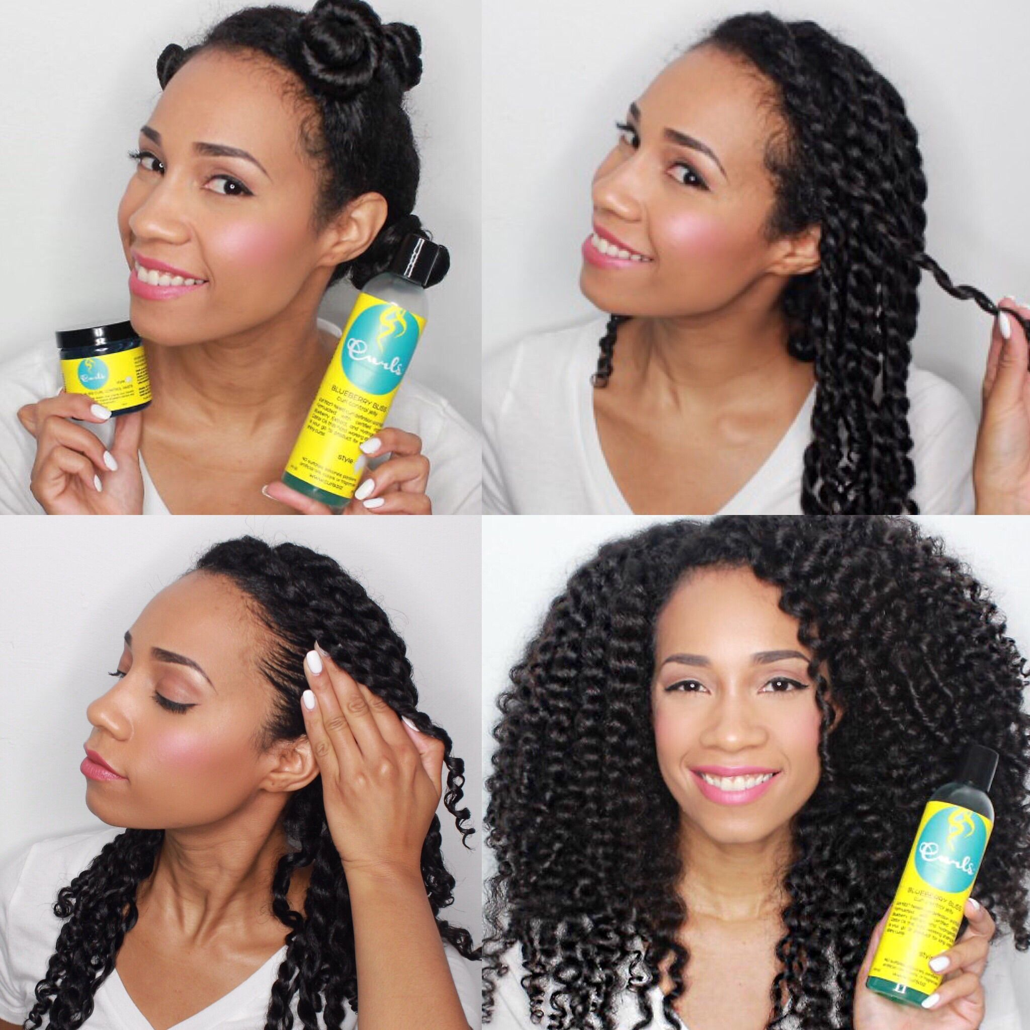 Step By Step Curly Hair Routine With Frizzfreecurls Blueberry