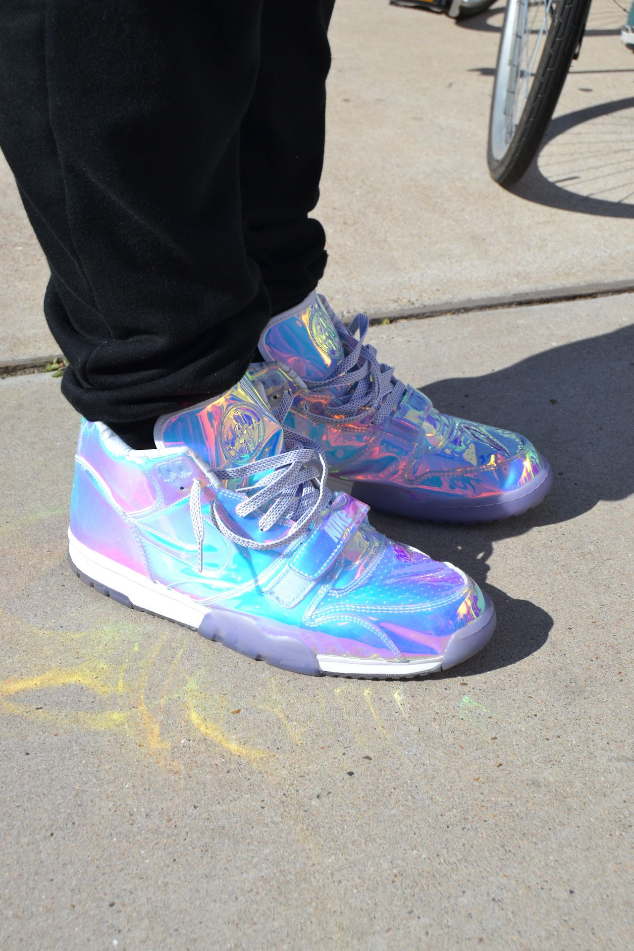 These iridescent Nike sneakers caught our attention while shooting street style at the @Staple event at #SXSW today
