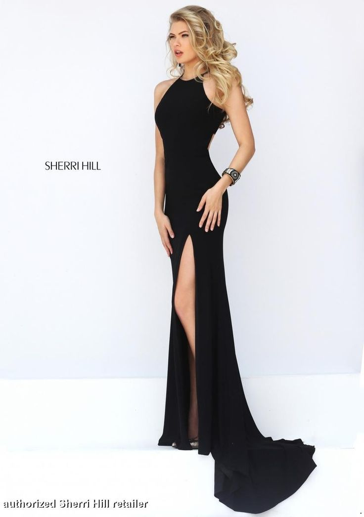 Long Black Gown Dress Formal Pinterest Prom Dresses Dresses
