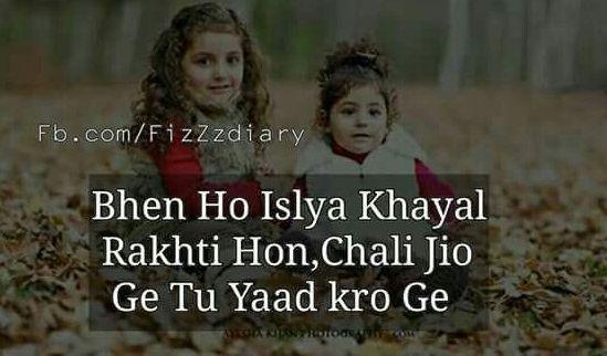 Sister Shayari Image In Hindi