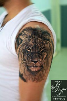 Tatuaggio Di Leone Tribale, Tatuaggi Testa Leone, Disegno Del Tatuaggio Del  Leone, Bozze