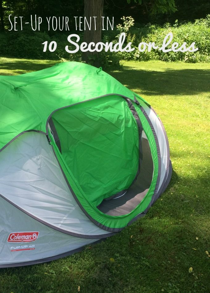 Coleman Pop-up Tent Does it really set up in 10 Seconds or Less? & Coleman Pop-up Tent: Does it really set up in 10 Seconds or Less ...