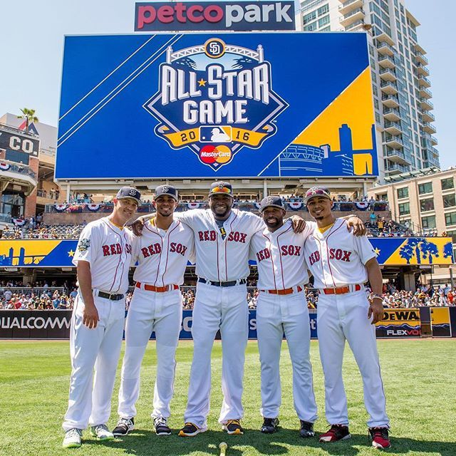 Your 2016 Redsox All Stars Boston Red Sox Red Sox Nation