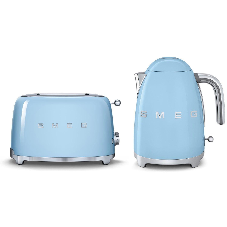 Smeg Kettle Amp 2 Slice Toaster Set Pastel Blue Smeg