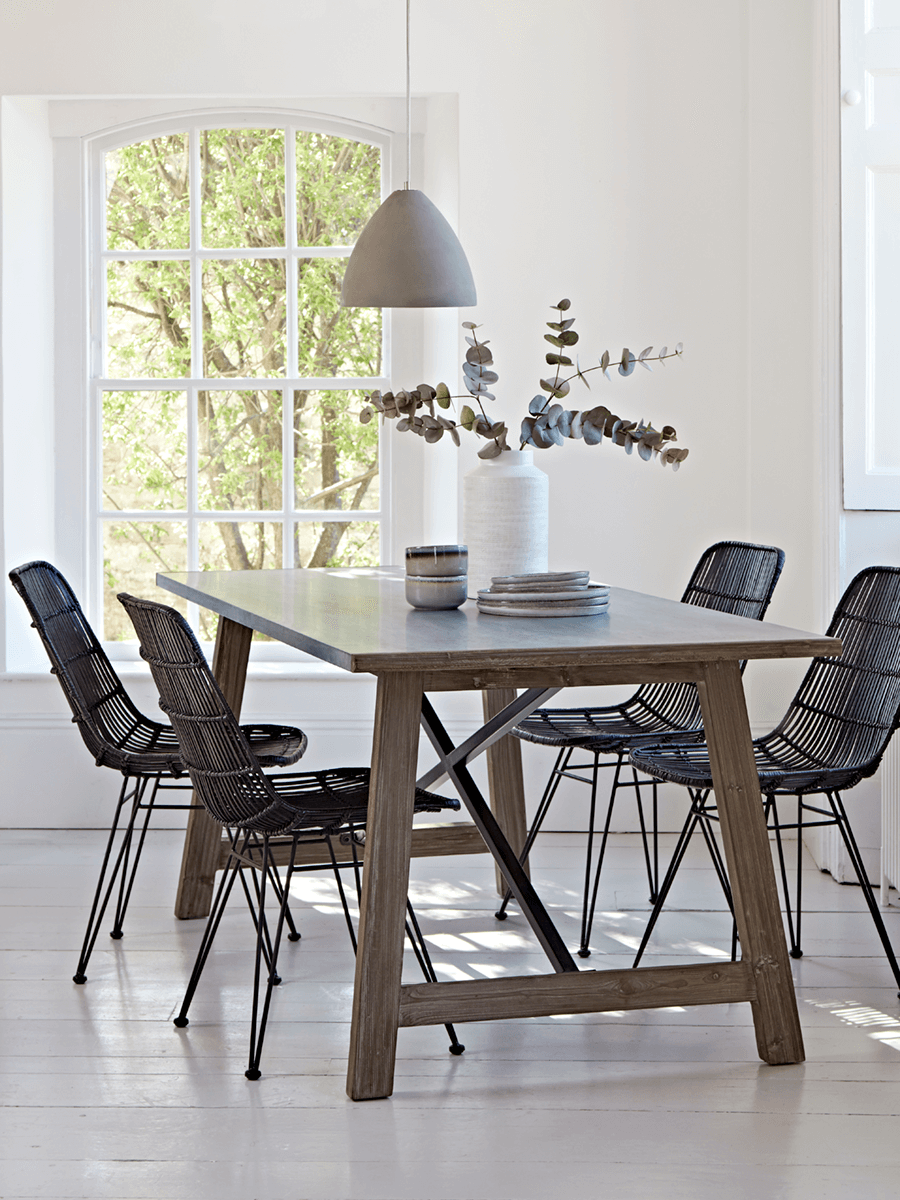 Zinc Topped Dining Table Zinc Dining Tables Concrete Top Dining