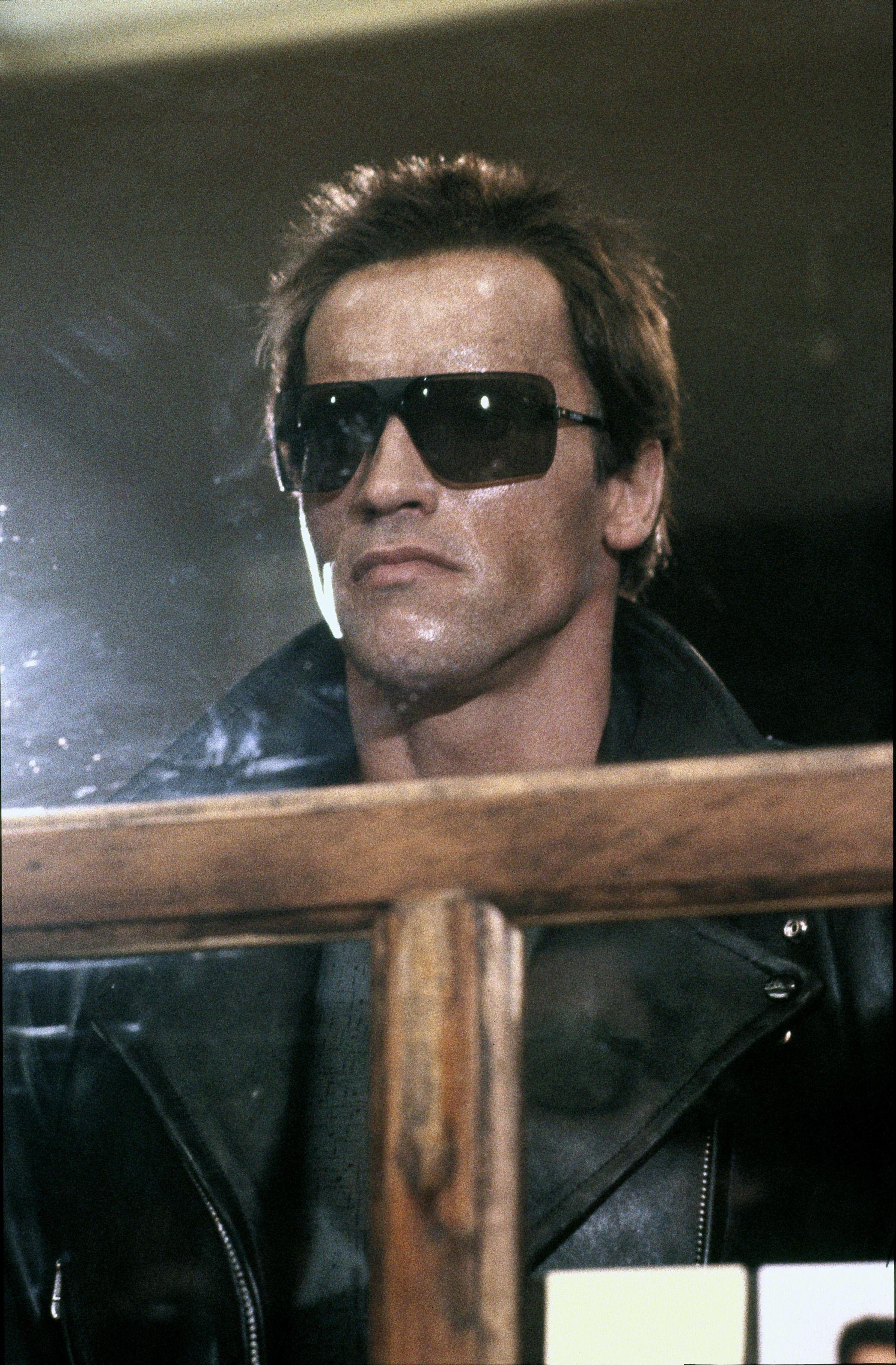 Terminator Schwarzenegger I/'ll Be Back Men/'s Raglan Shirt Long Sleeve Legend Top