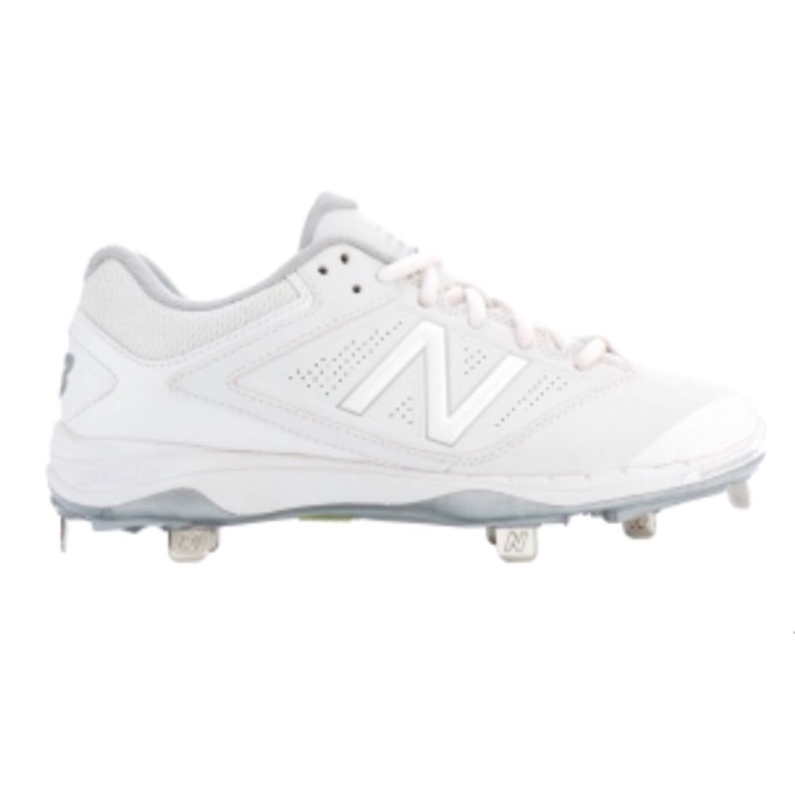wholesale dealer 031b9 efa54 White metal softball cleats
