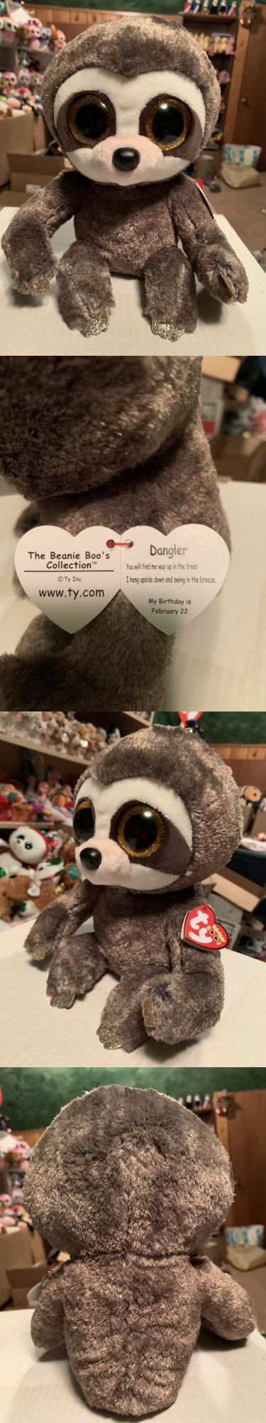 """1ffba0b7641 Current 1628  Ty Dangler -Brown Beige Gold Sloth 10"""" Beanie Boo Buddy!   New  -  BUY IT NOW ONLY   15.99 on  eBay  current  dangler  beige  sloth   beanie"""