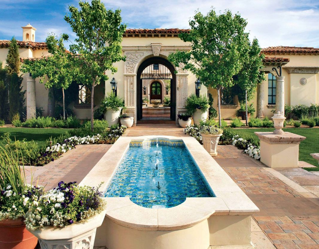 Colonial type modern luxury home - Timeless Patios Luxury Homes Mediterranean Homes Residential Architecture