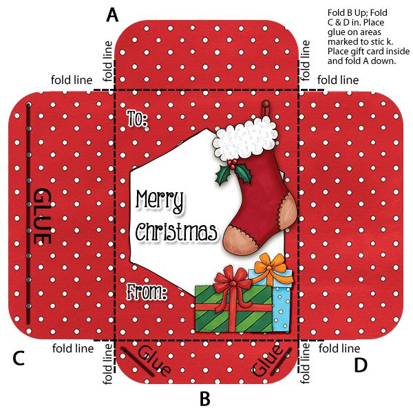 Make your own Gift Card envelope   holder Card envelopes - Gift Card Envelope Template