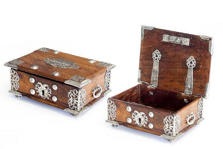 SEVENTEENTH CENTURY CEYLON JEWELRY BOX Portuguese model from the