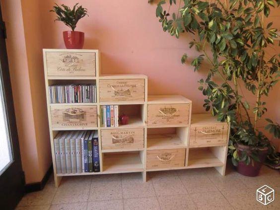 van een paar oude gebruikte wijnkisten maak je echt. Black Bedroom Furniture Sets. Home Design Ideas