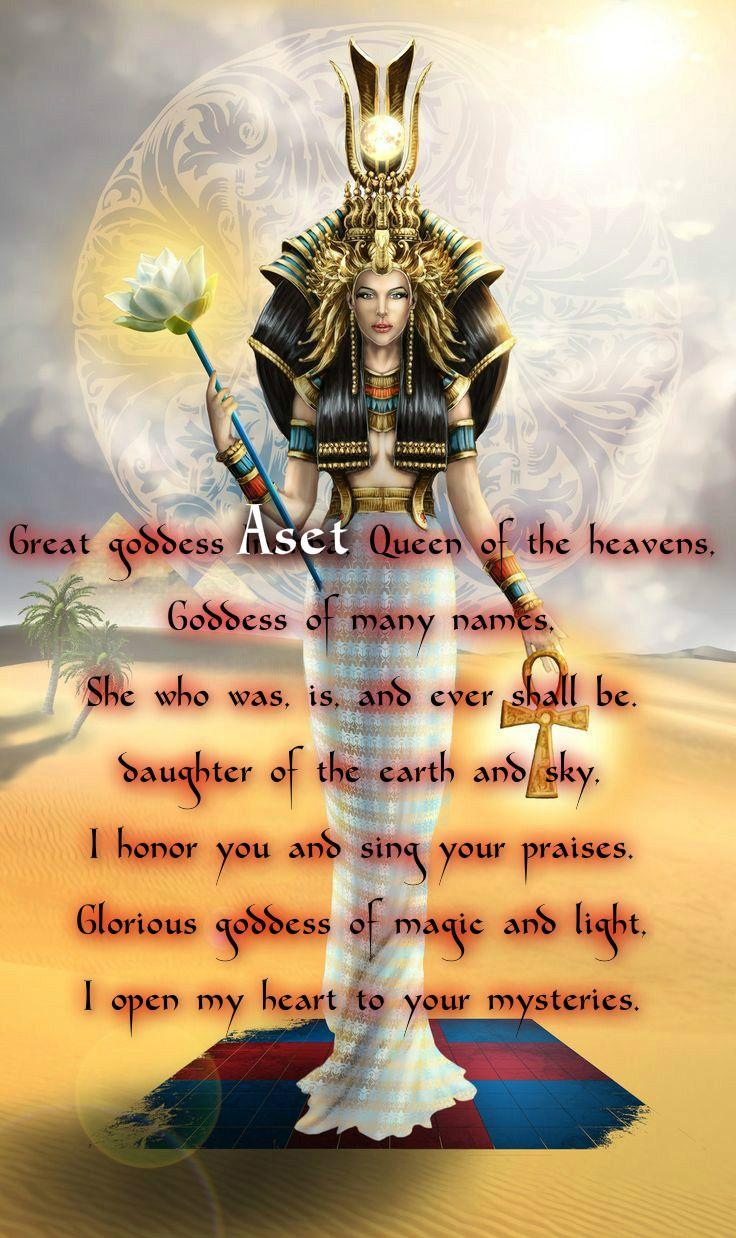 Prayer to the Goddess Aset (Isis) | Goddess Aset in 2019 | Isis