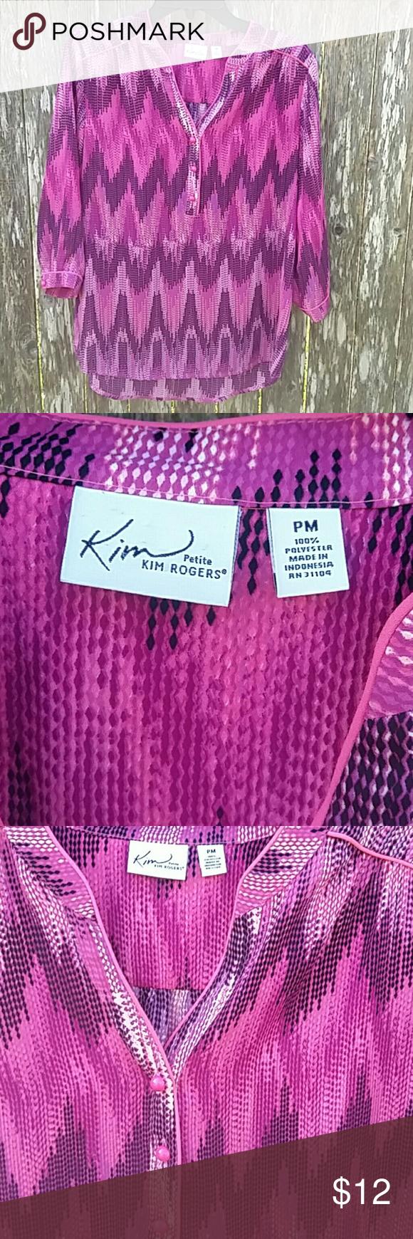 Kim Rogers Blouse Kim Rogers Blouse Kim Rogers Tops Button Down Shirts
