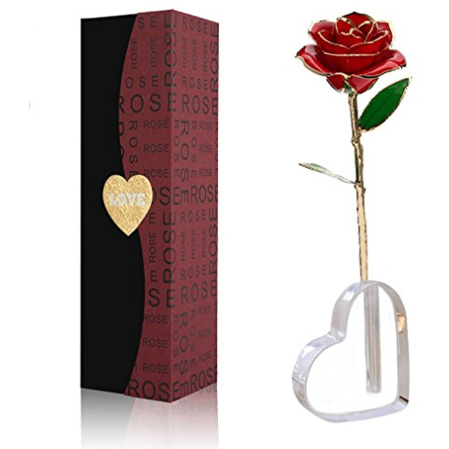 Home decor artificial flowers  Valentineus Day k Gold Dipped Real Rose Elegant Flower Wedding