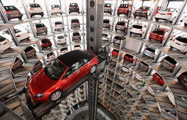 Indoor Vehicle Storage >> Volkswagen S Automatic Car Delivery Towers Volkswagen