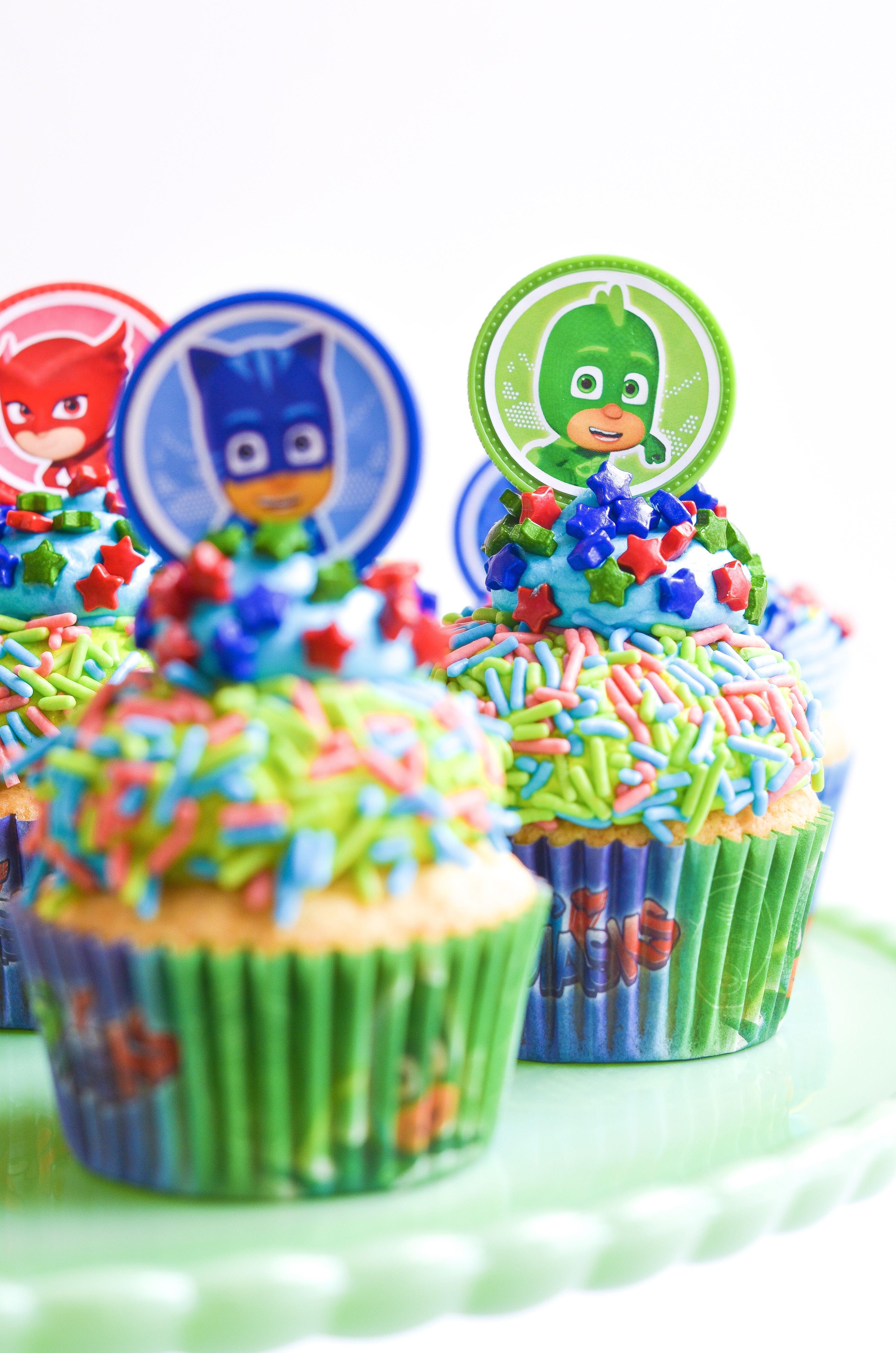 Food pj masks birthday cake pj mask cupcakes cupcake party