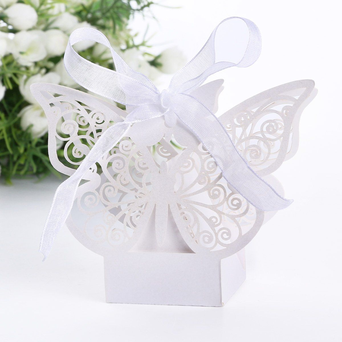 20pcs Sweets candy box Grand butterfly for wedding baptism | Festive ...
