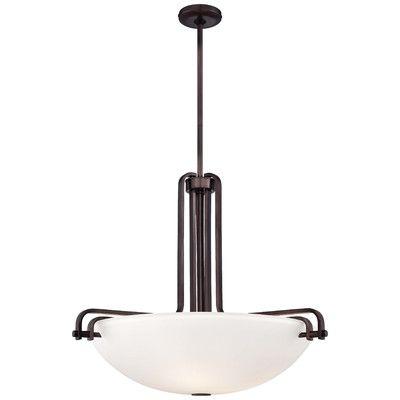 "Metropolitan by Minka Industrial 3 Light Bowl Pendant Size: 24.5"" H x 28.75"" W x 28.75"" D"