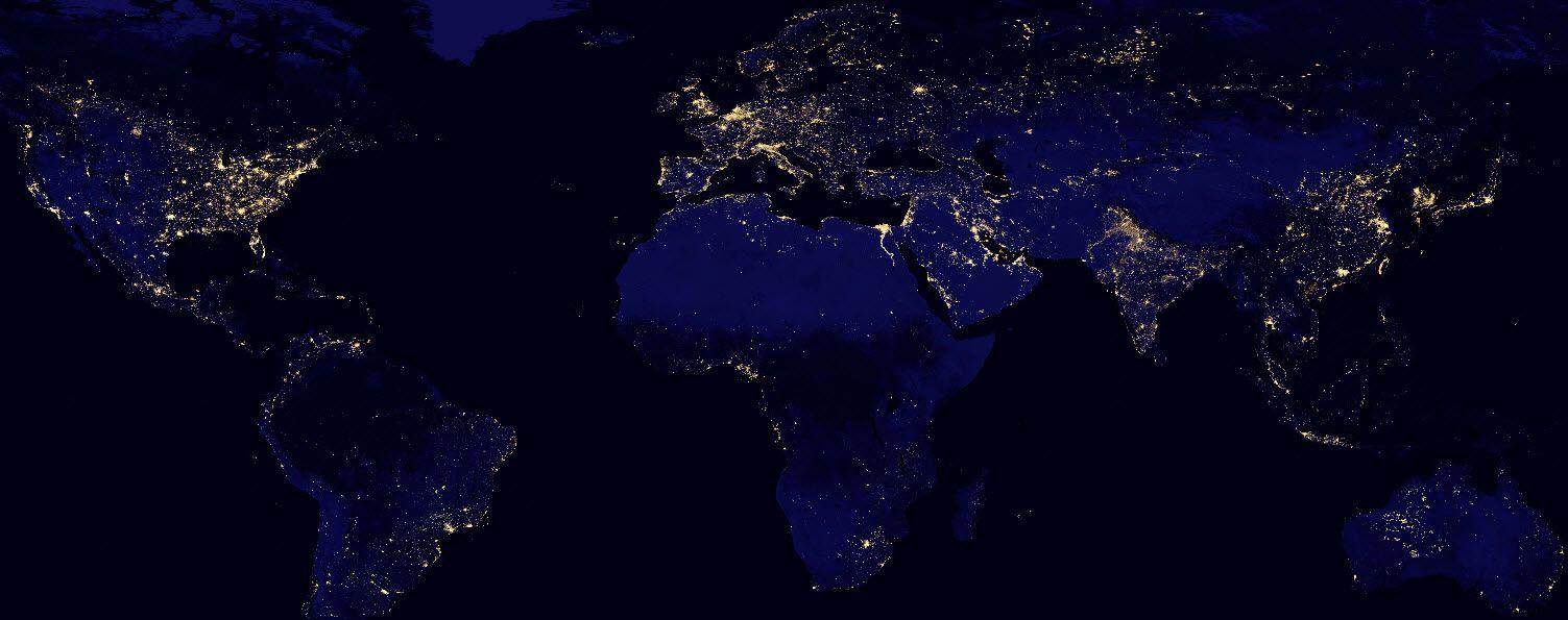 VIIRS-global   The great outdoors   Earth at night, Nasa