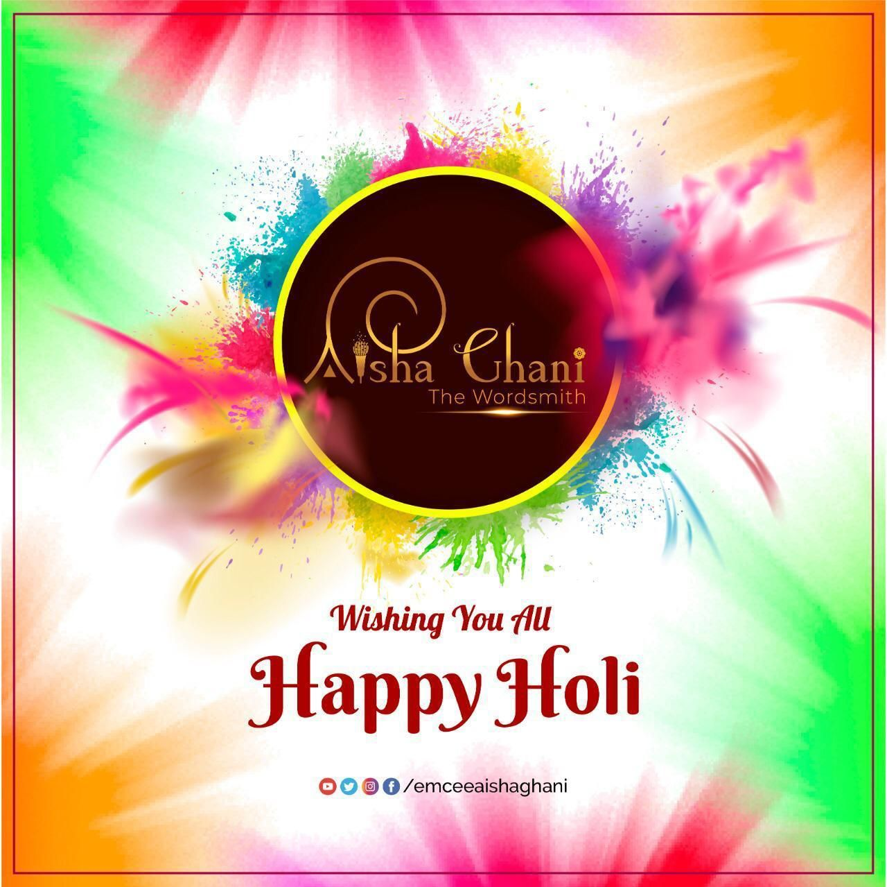 Let's revel in the (HOLI)NESS of the festival !!!  #Teamwordsmith #Anchor #Emcee #Entertainer #Festive #Celebration #Holi #Happiness #Equality #Humanity