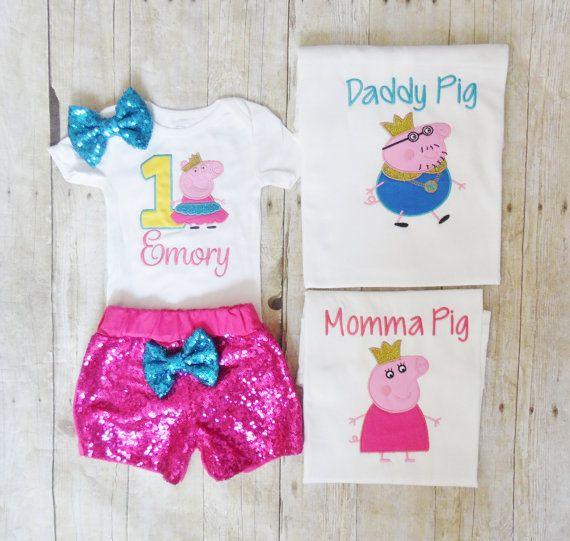 PEPPA PIG:*FESTIVAL*DESIGN T SHIRT//SHORTS SET,2//3,3//4,4//5,5//6YR,NEW WITH TAGS