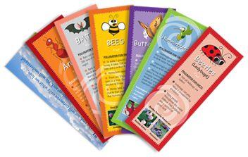 Pollinator Book Marks - set of 6