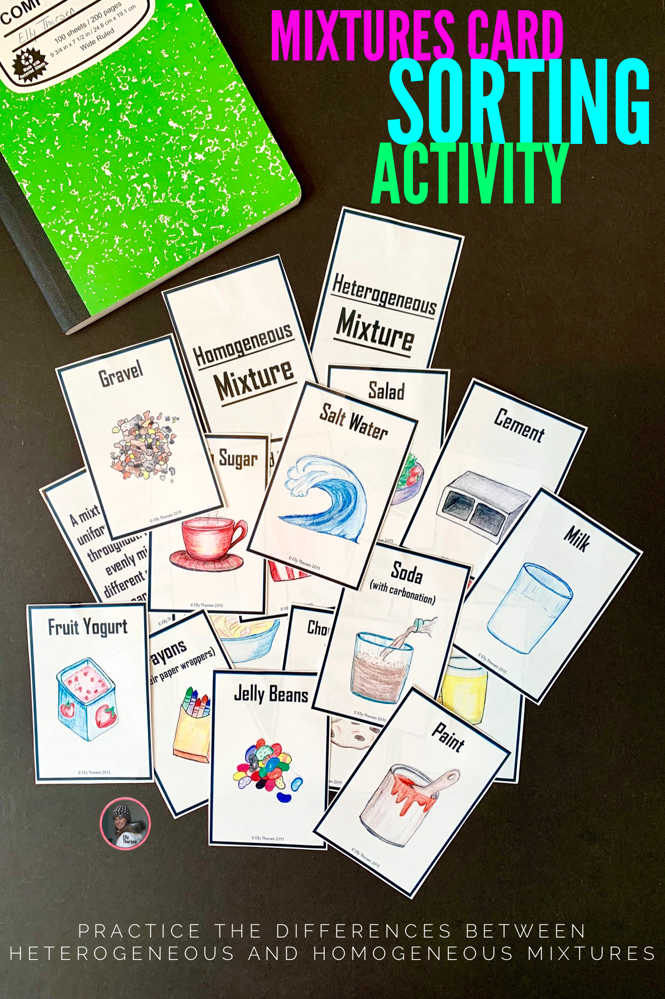 Homogeneous And Heterogeneous Mixtures Card Sorting
