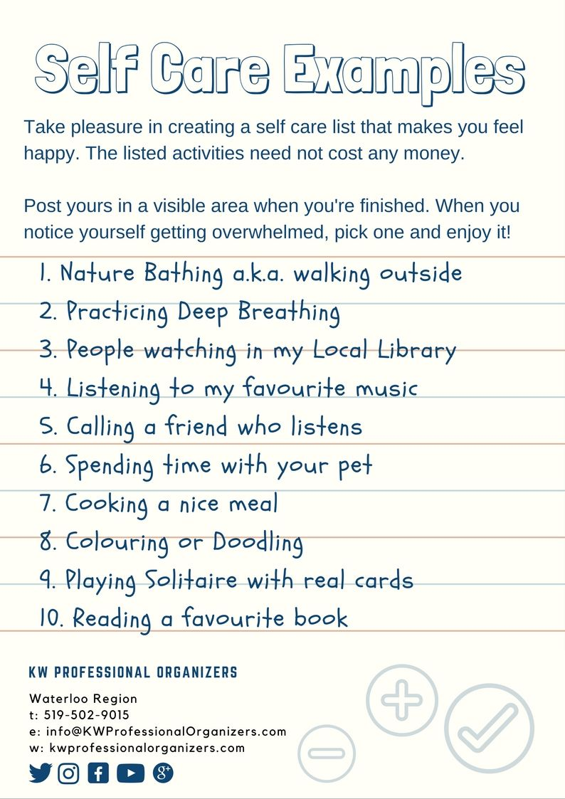 Create Your Own Self Care List Self care, How to plan