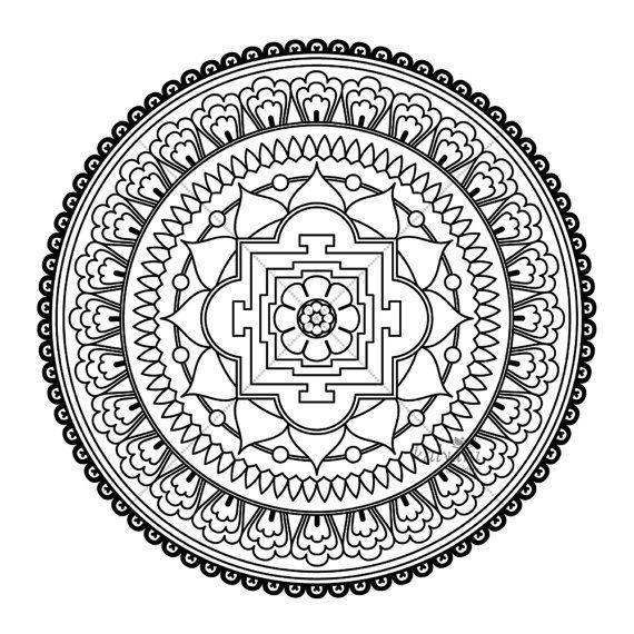 Five Mandala Colouring Pages Printable Digital Sheets Etsy Abstract Coloring Pages Mandala Coloring Mandala Coloring Books