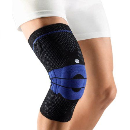 f3e43abf7e Elastic Knee Support Compression Sleeve for Joint Pain Relief, and Injury  Recovery - Blue
