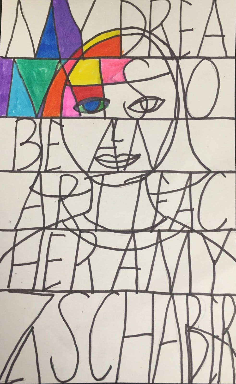 Warm Cool Stained Glass Portraits In Elementary Art Artful Artsy