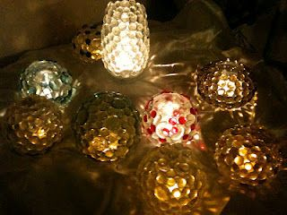 Gem accented Moon-Lighting give awesome refracted lighting using candles and twinkle lights