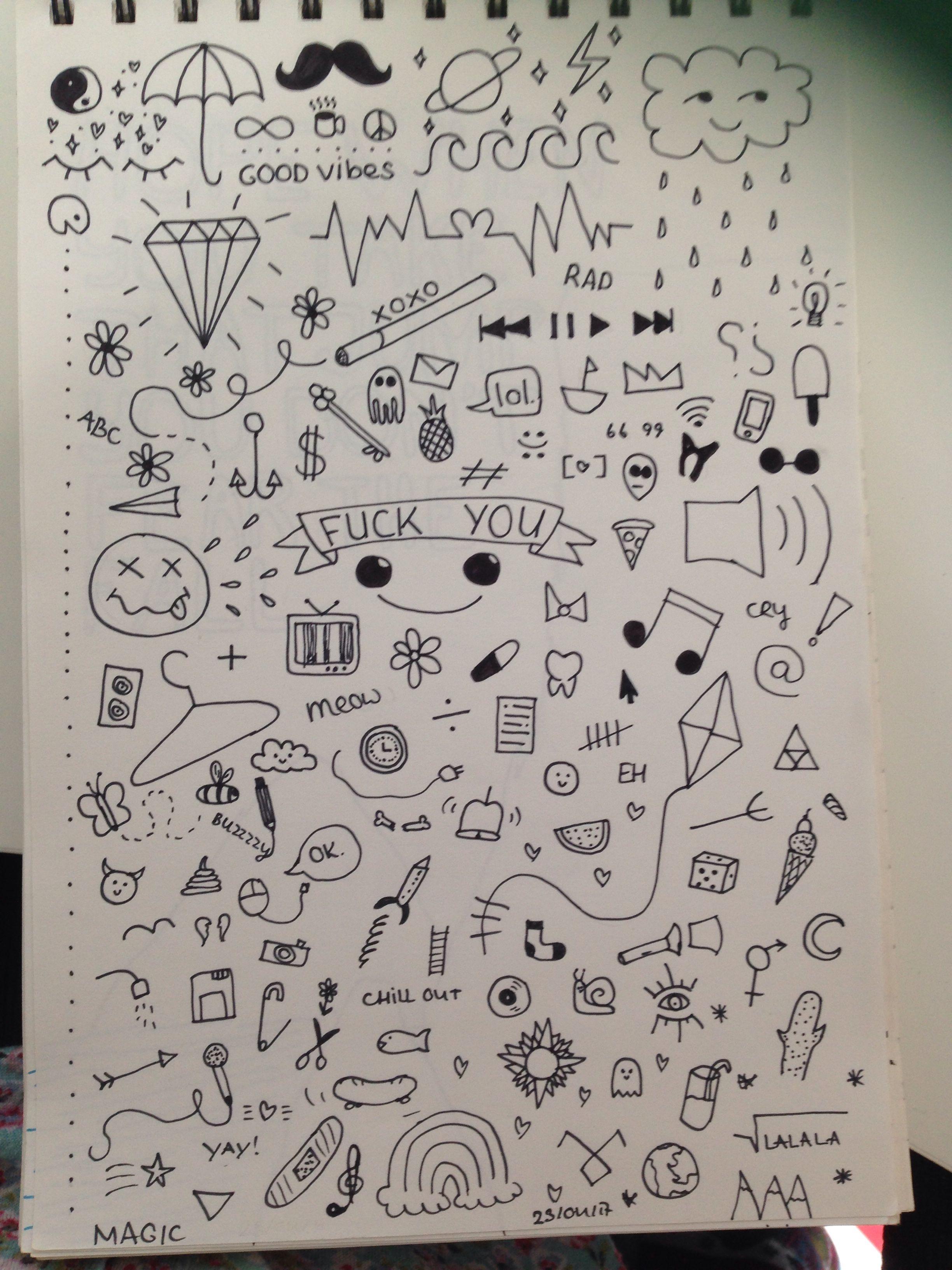 Capa De Caderno Doodle Art Arte Com Rabiscos E Ideias Do