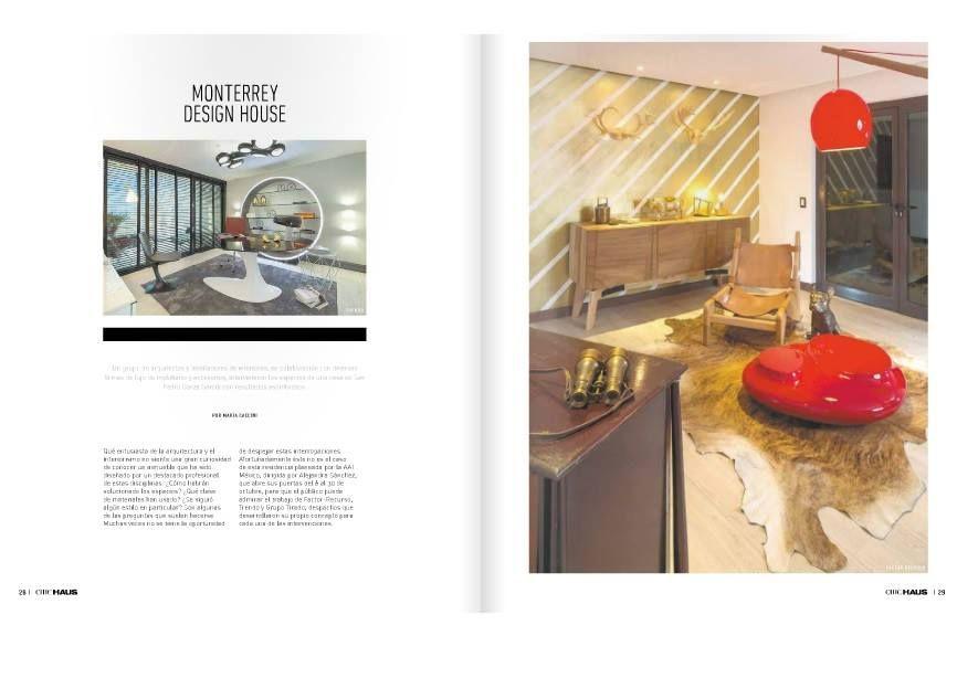 """Monterrey Design House"", Chic Haus Monterrey de Grupo Milenio. Octubre 2015"