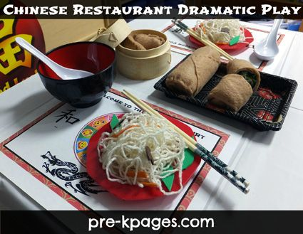 Dramatic Play Chinese Restaurant Center Theme via www.pre-kpages.com
