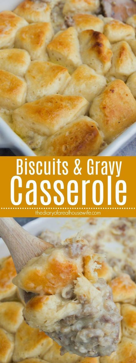 Biscuits and Gravy Casserole • The Diary of a Real Housewife