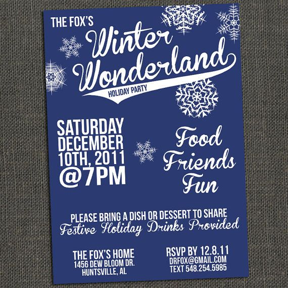 WINTER WONDERLAND Christmas Party or Teen by michelepurnerdesigns ...