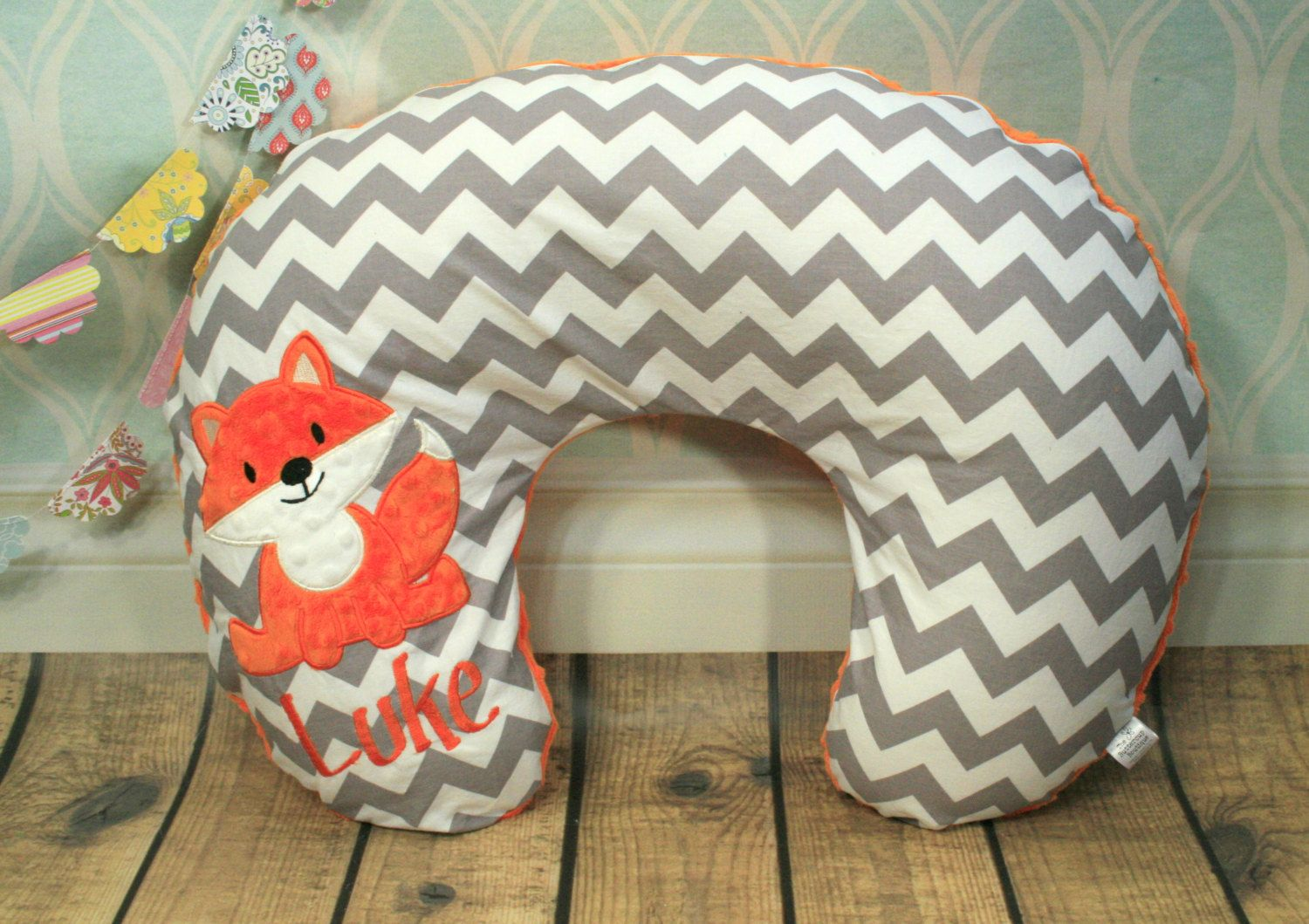 Personalized Fox Nursing Pillow Cover in by TheButtercupBoutique
