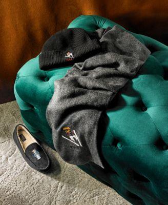 09bc178a753 Polo Ralph Lauren Men s Dezi Micro-Suede Polo Bear Slippers - Black ...