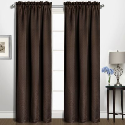 Kate 84 Rod Pocket Window Curtain Panel In Chocolate Products
