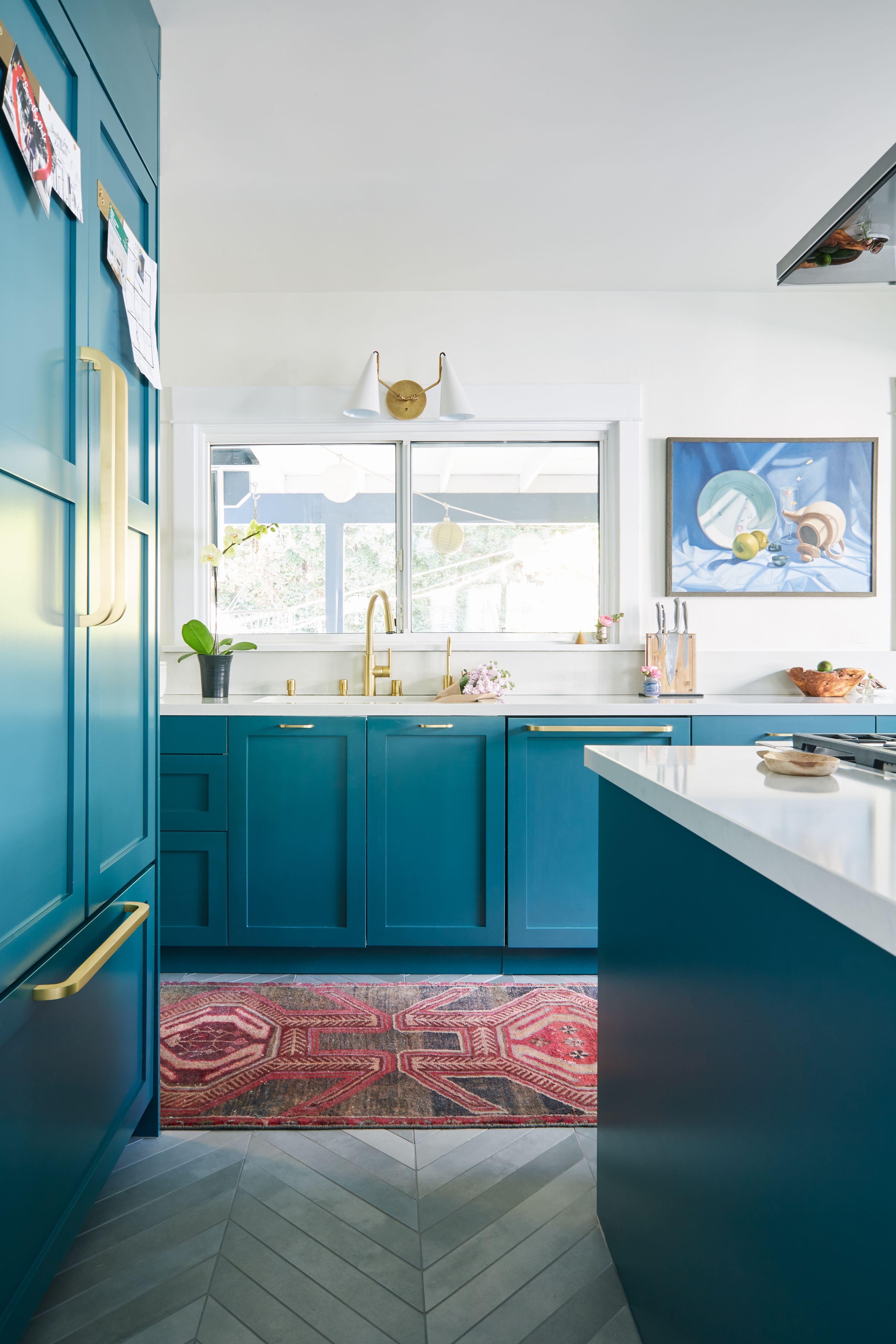 A Designer\'s Colorful California Reno | Kitchen Renovation ideas ...