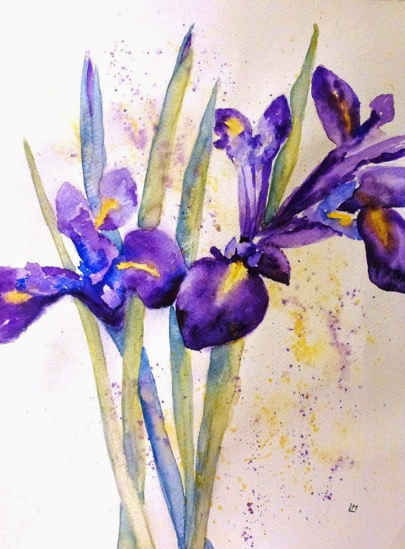 Laura moore watercolour art irises pinterest watercolor art laura moore watercolour art iris flowers in watercolour izmirmasajfo