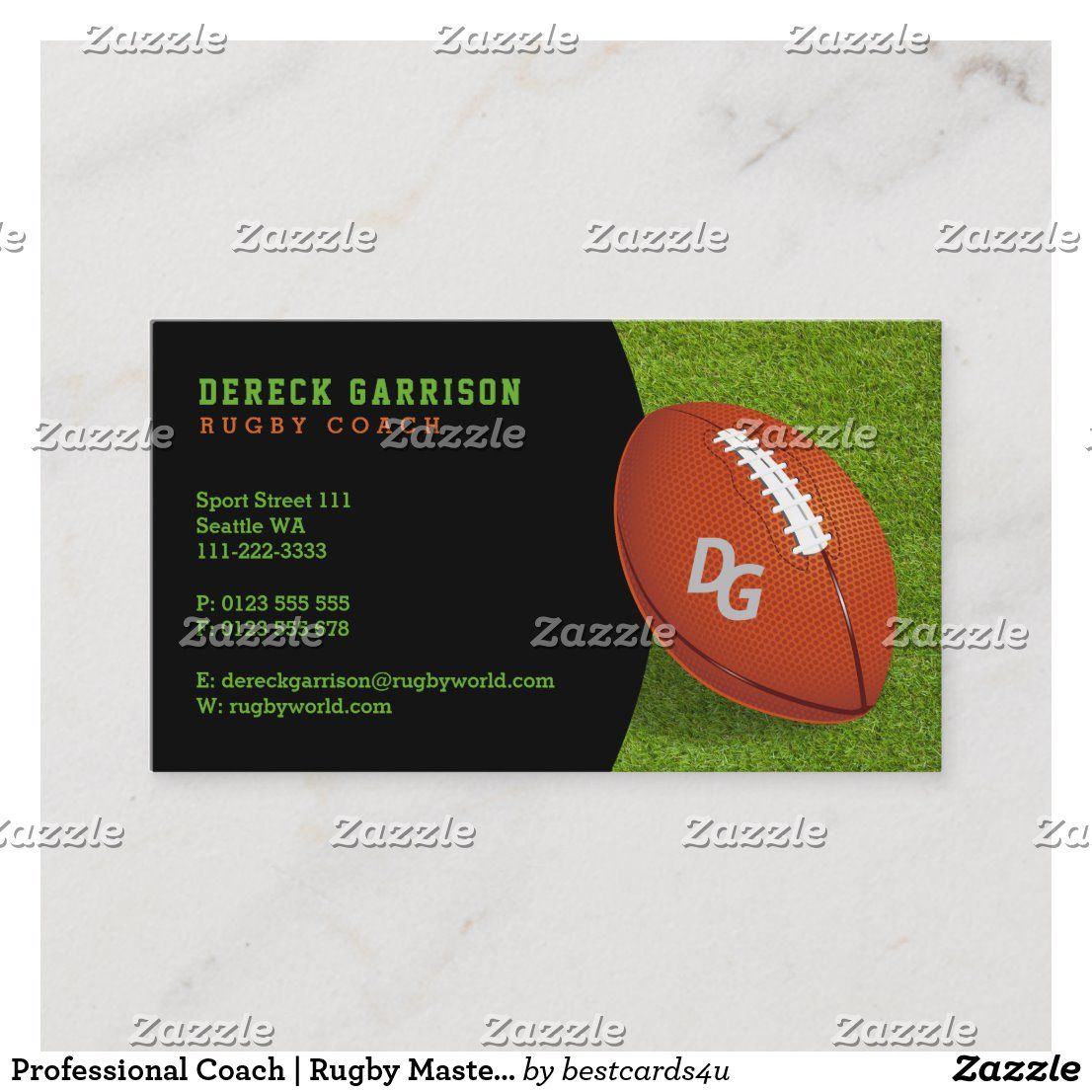Professional Coach Rugby Master Sport Business Card Zazzle Com Sports Business Rugby Coaching Rugby