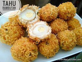 Resep Membuat Bola Tahu Rambutan Isi Telur Enak Resep Tahu Makanan Dan Minuman Makanan Vegetarian
