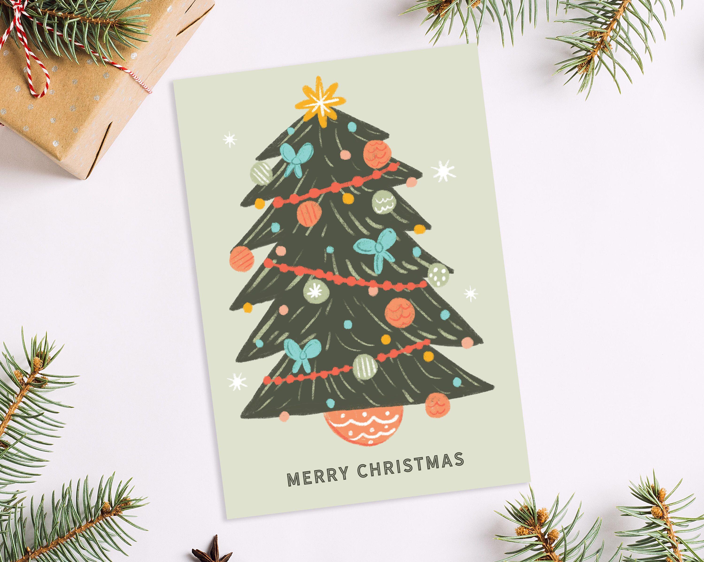 Printable Christmas Card Polar Bear Christmas Card Happy